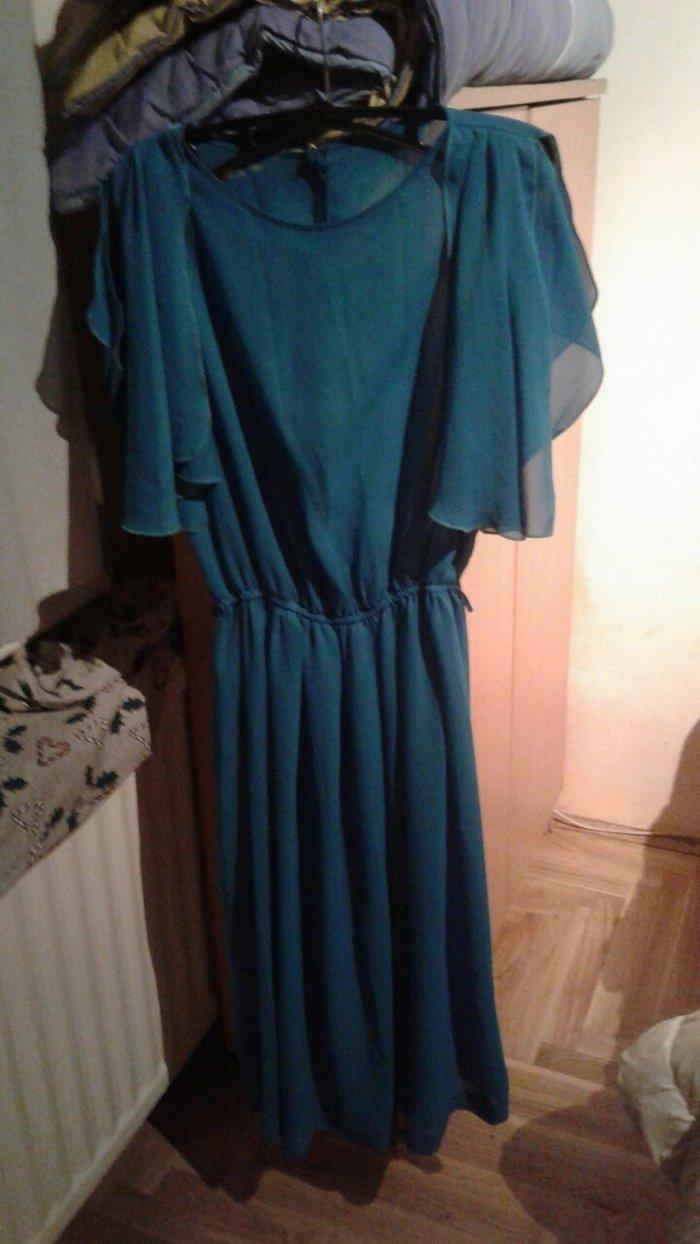 Svecana haljina tirkiz,prozirna... zorzet - Beograd