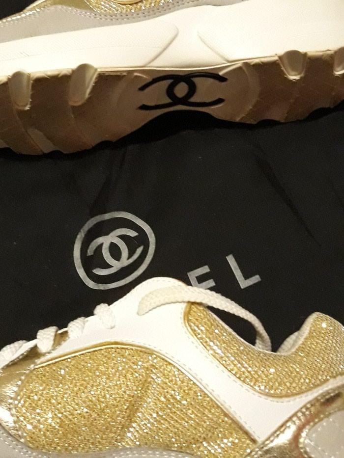 Παπούτσια αθλητικά τύπου Chanel, άριστη κατάσταση, νούμερο 37. Photo 5
