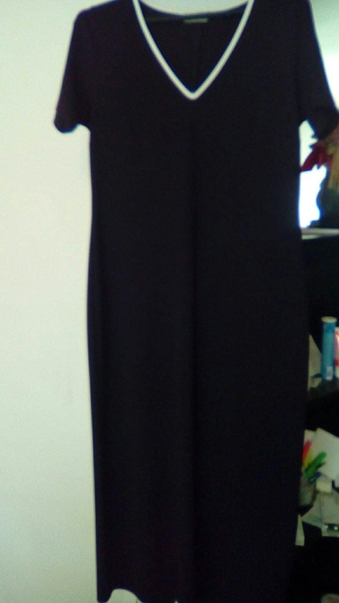 Crna haljina duga, šlic pozadi, letnja, broj 40 - Smederevo