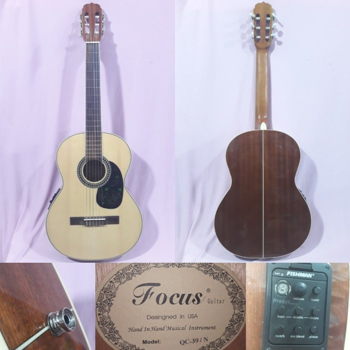 Focus - - fishman ekvolazerli klassik gitaradı. əla taxta materialı. Photo 0