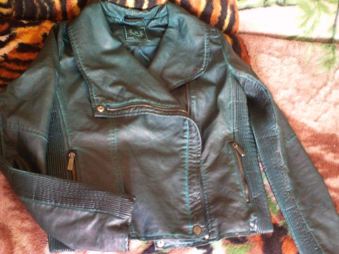 Продаю куртку кожаную б/у  в Бишкек