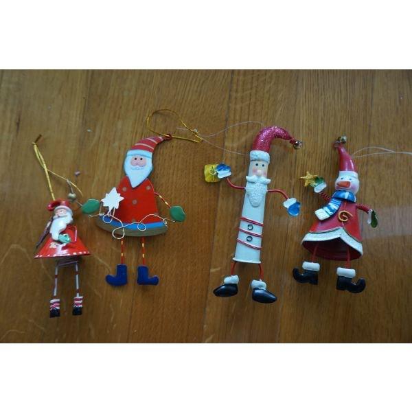 4 χριστουγεννιατικα στολιδια μεταλικα . Photo 0