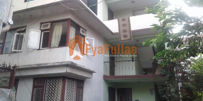 One wall and flat type house having land area 0-9-2-2 of 3 floors, in Kathmandu