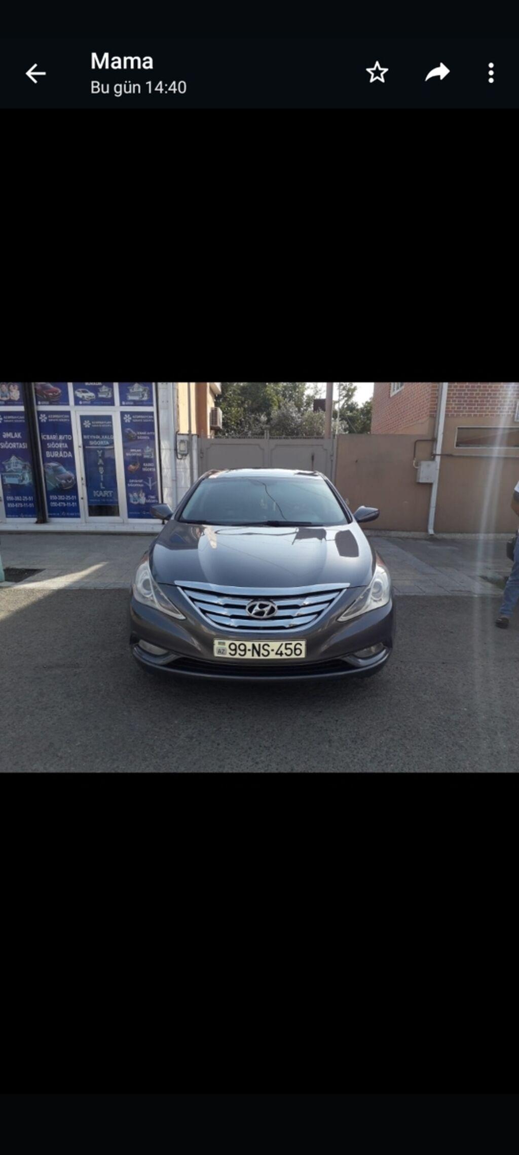 Hyundai Sonata 2 l. 2011 | 100000 km | Elan yaradılıb 14 Oktyabr 2021 15:25:21 | HYUNDAI: Hyundai Sonata 2 l. 2011 | 100000 km