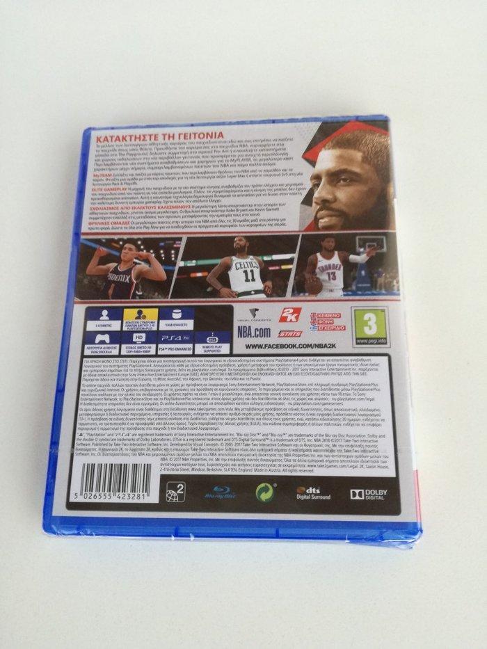 Παιχνίδι για PlayStation 4, NBA2K18, καινούριο, κλειστή συσκευασία.. Photo 1