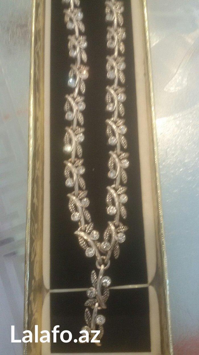 Bakı şəhərində Gümüş boyunbağı, 925 AYAR, təmiz gümüş.