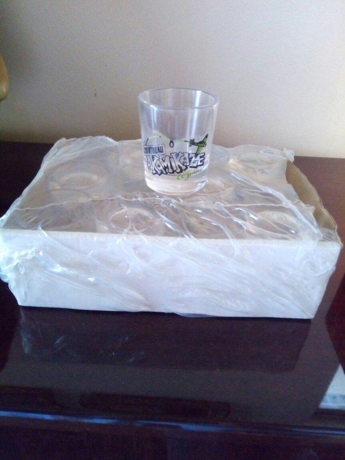 Σετ 12 ποτηρακια σφηνακια αχρησιμοποιητα στο κουτι τους. σε Χαλάνδρι