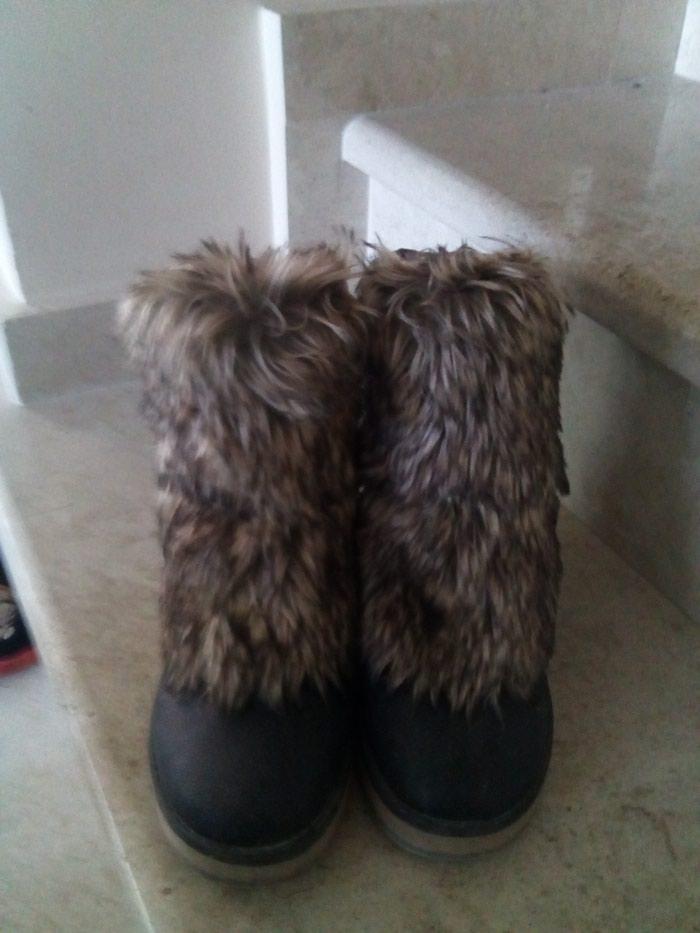 Μποτάκια μαύρα no 37 με αποσπώμενη γούνα!!. Photo 0