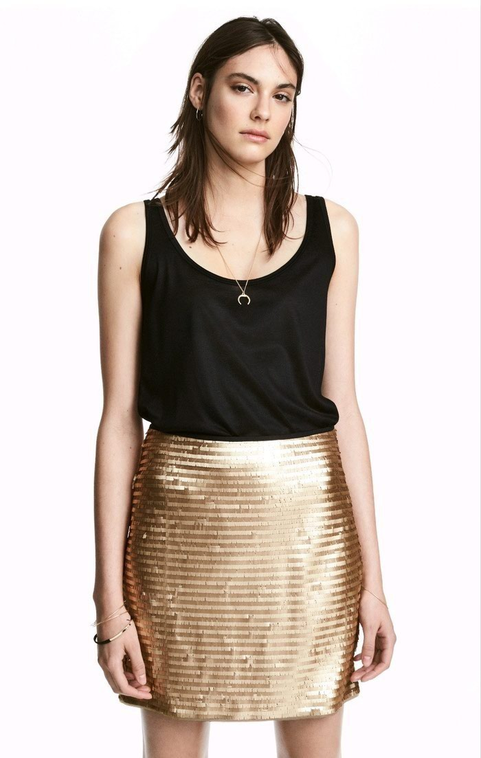 Sequined skirt H&M EU38. Photo 2