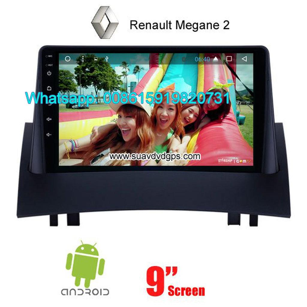 Renault Megane 2 II Car audio radio android GPS navigation camera
