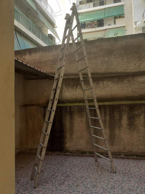 Αλουμινένια Σκάλα 4 μέτρα Διπλή / 7 μέτρα μονή