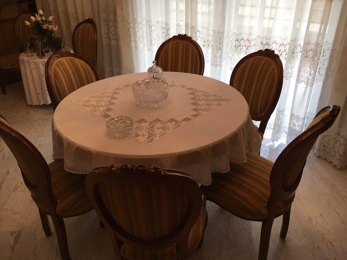 Ροτοντα μασίφ 1,14 με δυο προεκτασεις (46+46) και 8 καρέκλες . Photo 0