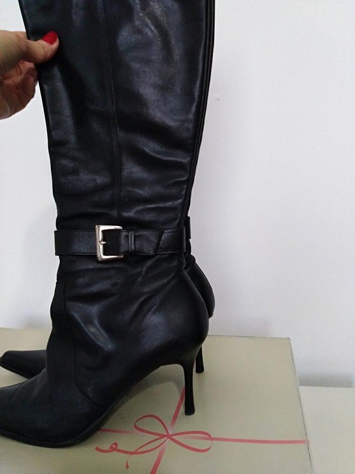 Kožne čizme, očuvane, u odličnom stanju, vel. 40 - Pancevo