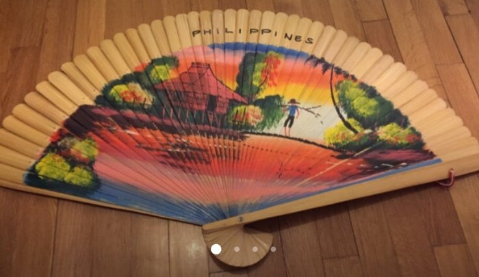 Handpainted Huge fan from the Philipines . For decoration but can be u σε Υπόλοιπο Αττικής