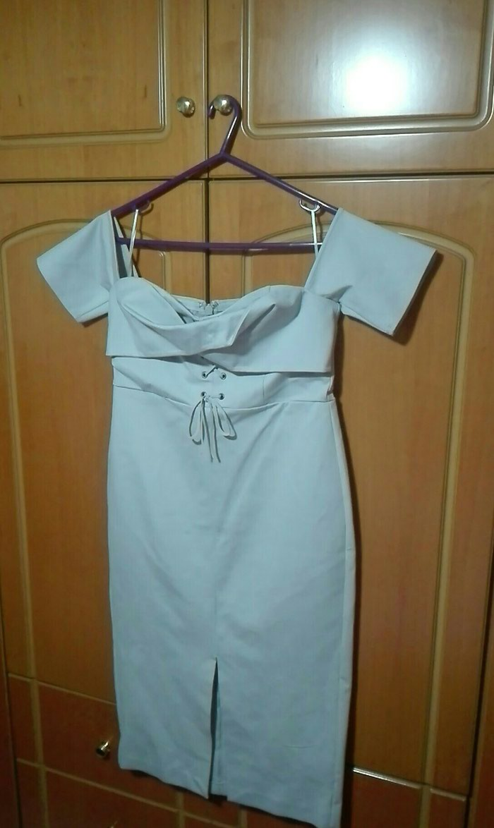 Φόρεμα ανοιχτο γκρι large strapless σε Λαμία