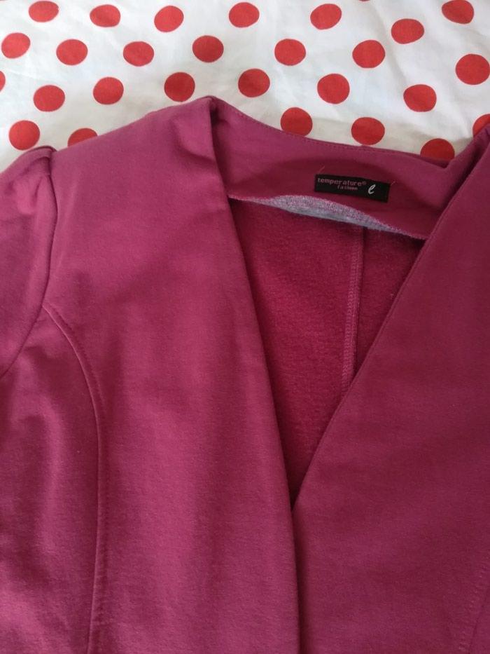 Pamucni sako,boja visnje,48cm poluobim grudi,70 cm duzina,46cm duzina od ramena do ramena