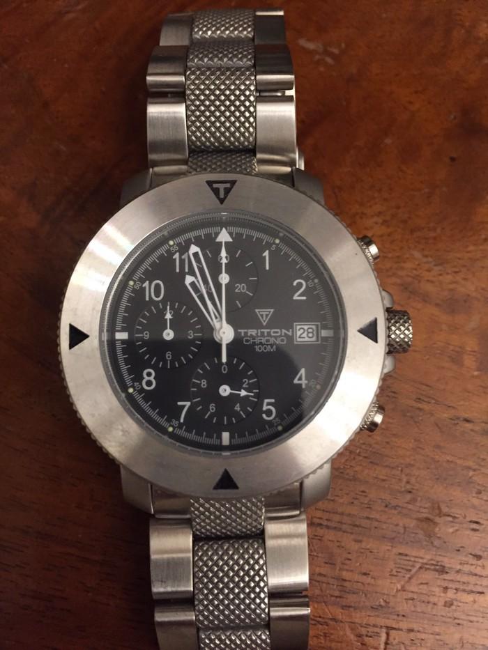 Ανδρικό ρολόι Triton Chrono 100m με χρονογράφο
