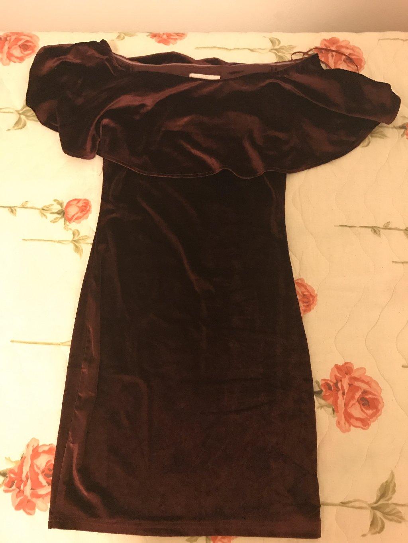Γυναικείο φόρεμα βελουτε Μπορντό φορεμένο 2 φορες