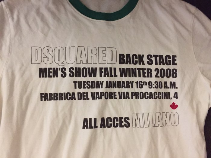 Dsquared vintage Men's βαμβακερό T-shirt , limitted edition No small Α. Photo 1