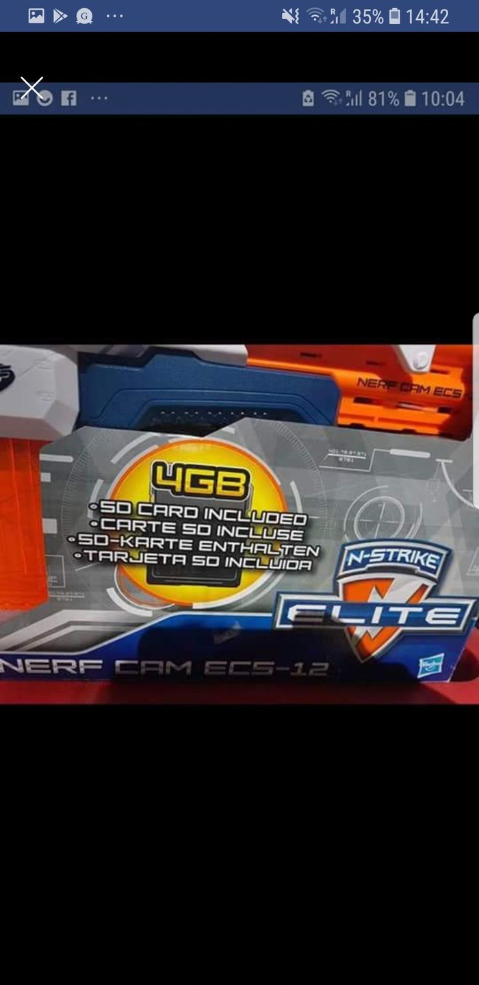 Nerf Camera ECS-12,N-Strike Elite with memory card and bullets. Photo 0