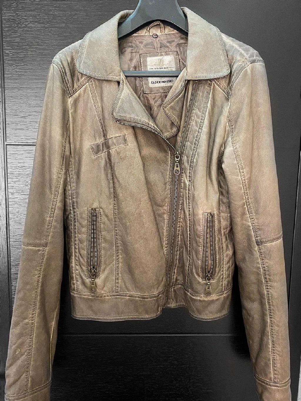 Ženska jakna od veštačke kože