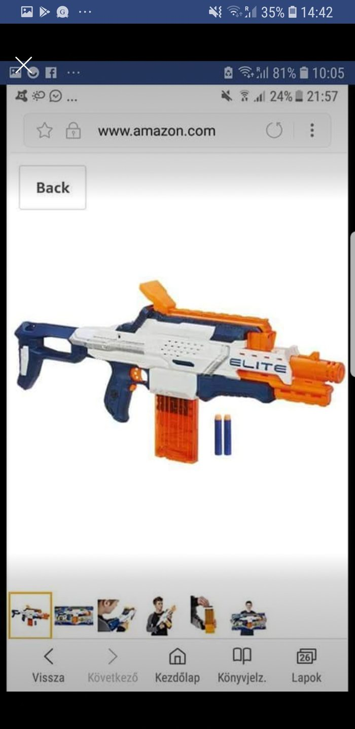 Nerf Camera ECS-12,N-Strike Elite with memory card and bullets. Photo 3