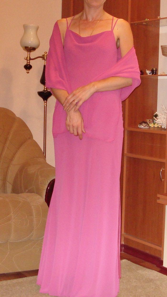 Платье р 38 (46) Турция, с шарфом, одевала один раз на свадьбу. в Бишкек