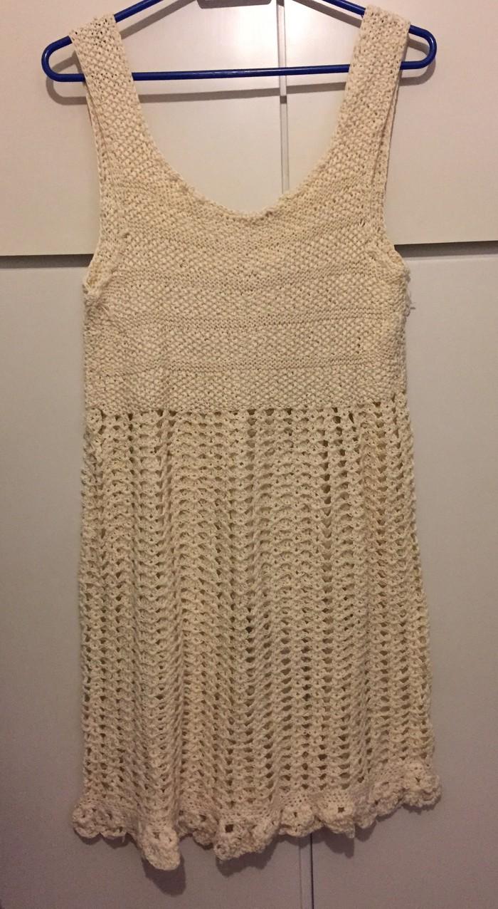 Πλεκτό μίνι φόρεμα από βαμβακερό νήμα Νο s