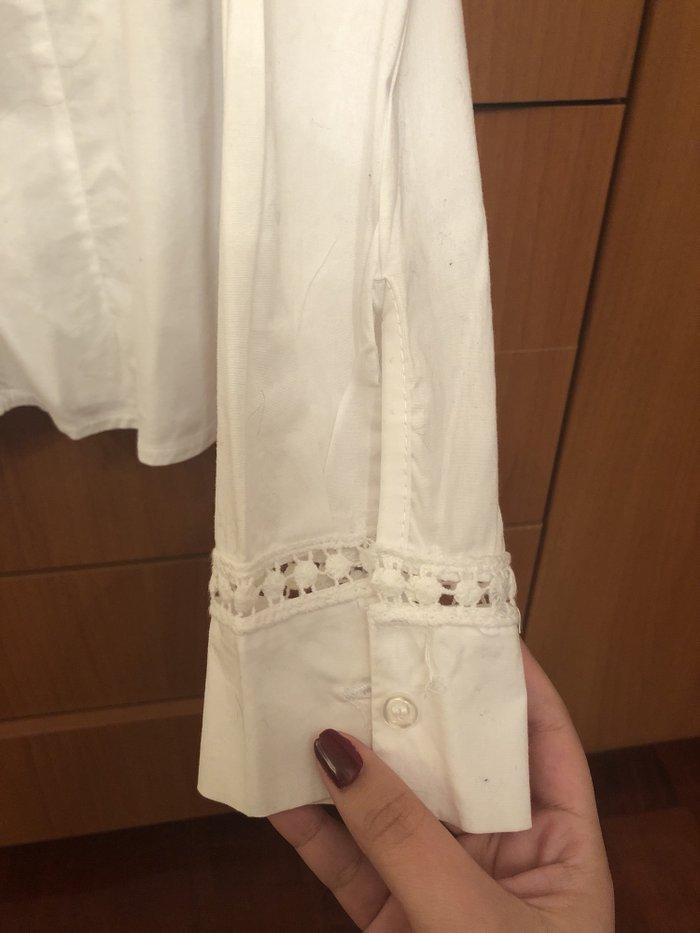 Φανταστικο ασπρο πουκαμι με δαντελιτσα !!! M/L !! . Photo 4