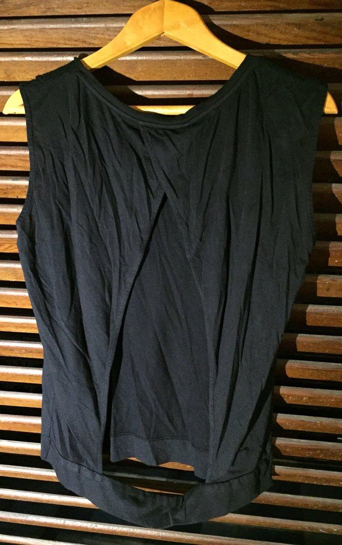 Βαμβακερή μπλούζα με ανοιχτή πλάτη
