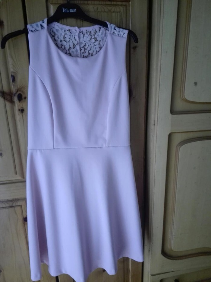Ροζ απαλό φόρεμα για βαφτίσια και γάμους νούμερο Μ/L. Photo 0