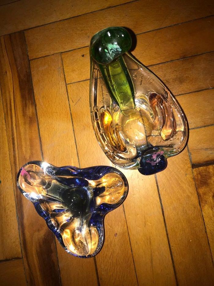 Цветное стекло чехия «медуза» цена за обе 70 ман