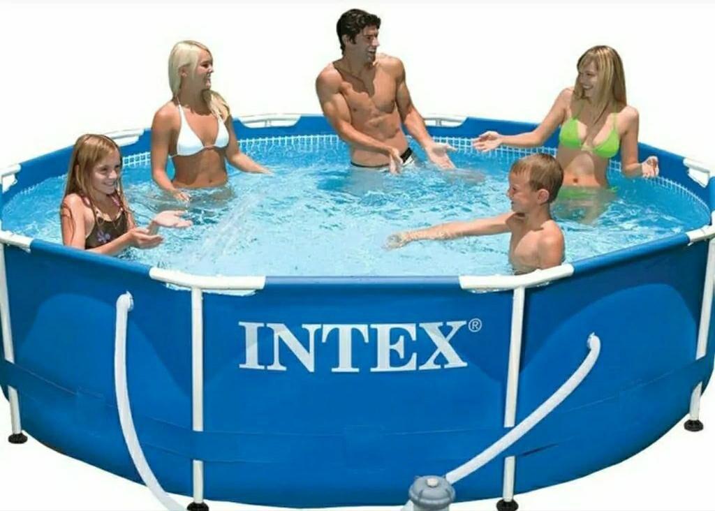 Бассейн Детский бассейн каркасный круглый Интекс intex арт