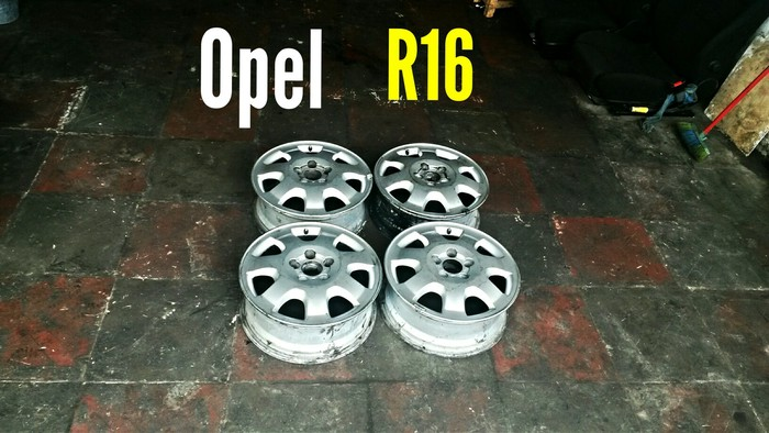 Opel R16 5 Bolt Disklər. Photo 0