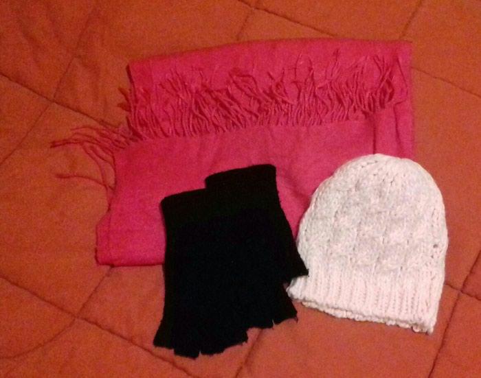 Πασμίνα, γάντια, σκούφος - αφόρετα Όλα μαζί 7€. Photo 0