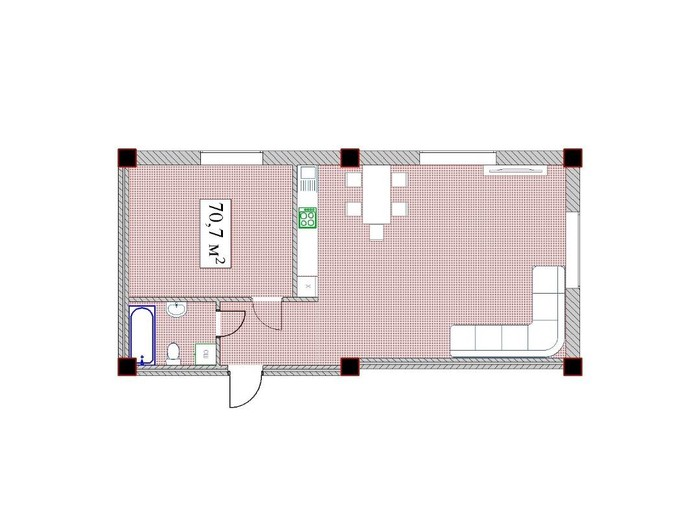 Продается квартира: 2 комнаты, 68 кв. м., Бишкек. Photo 8
