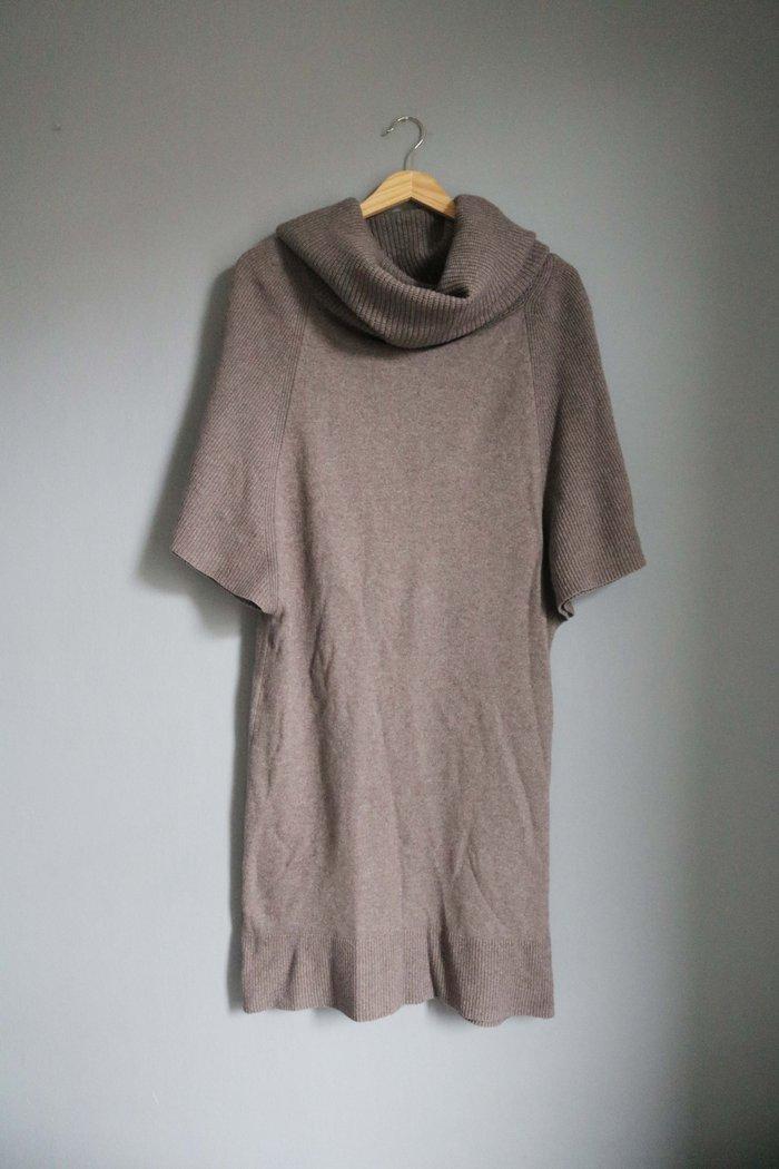 Trussadri επωνυμο πλεχτο φορεμα σε γκρι-καφε αποχρωση