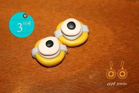 Χειροποίτητα σκουλαρίκια minion! 3.00€ σε Ερμούπολη