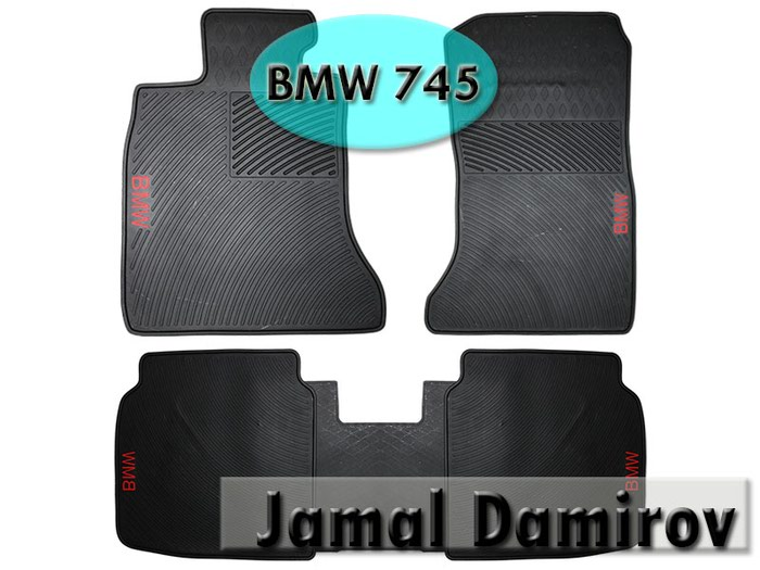 BMW 745 ucun silikon ayaqaltilar . Силиконовые коврики для BMW 745.. Photo 0