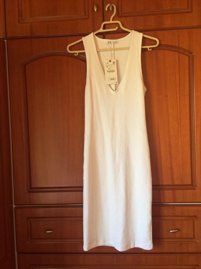 Φορεμα λευκο zara με την ετικετα του! Μεγεθος small . Photo 0