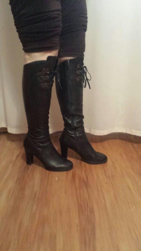 72490c3cb35c Продажа Кожаные сапоги, евро зима, почти новая, 38 размер, очень ...