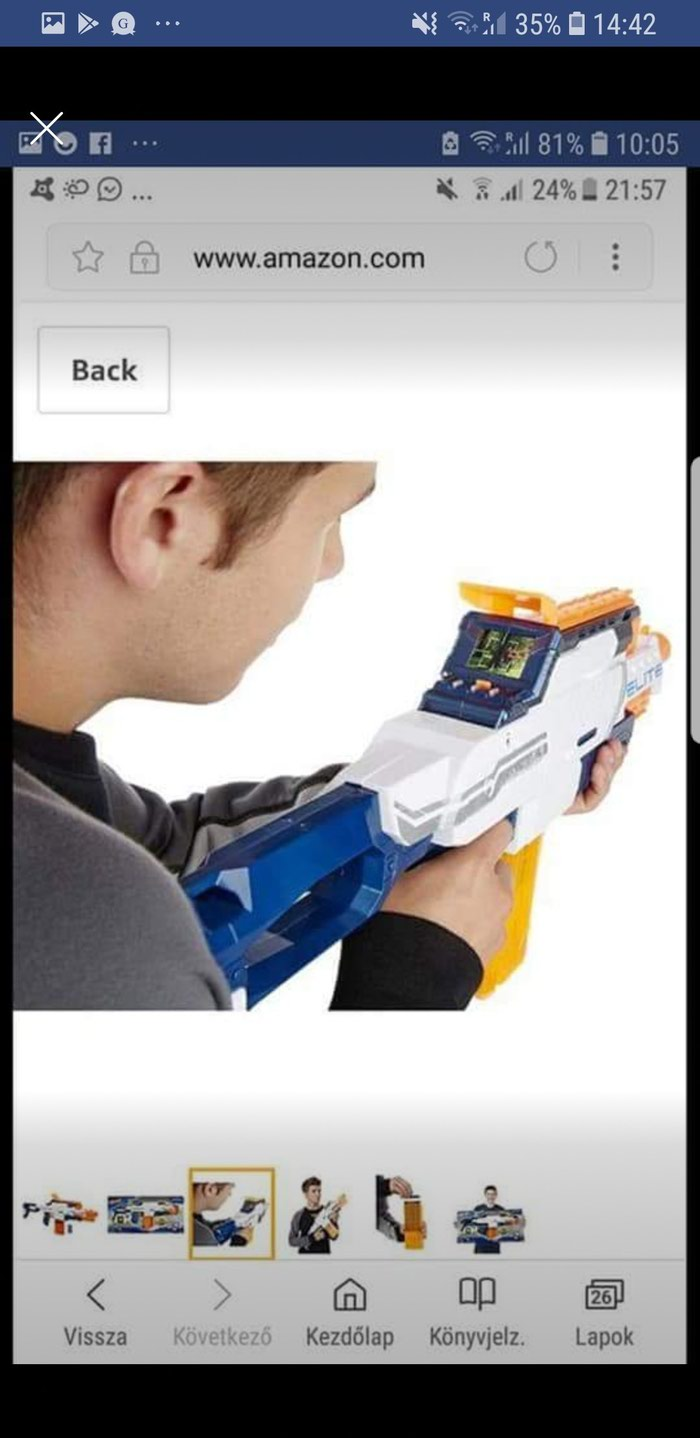 Nerf Camera ECS-12,N-Strike Elite with memory card and bullets. Photo 4