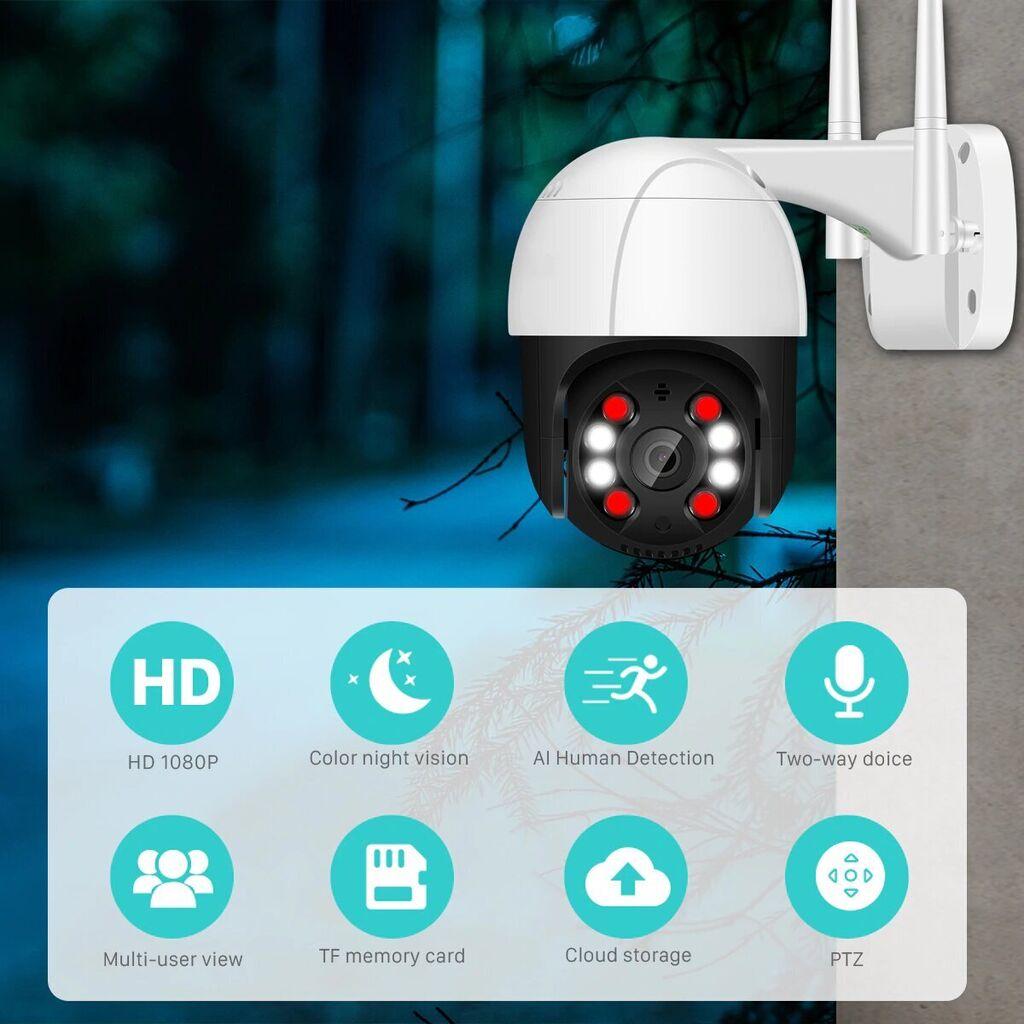 Yuksek keyfiyyetli WiFi Smart Camera - asagidaki xususiyyetlere: Yuksek keyfiyyetli WiFi Smart Camera - asagidaki xususiyyetlere
