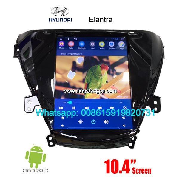Hyundai Elantra Vertical Screen Car radio tesla android GPS navigation in Kathmandu