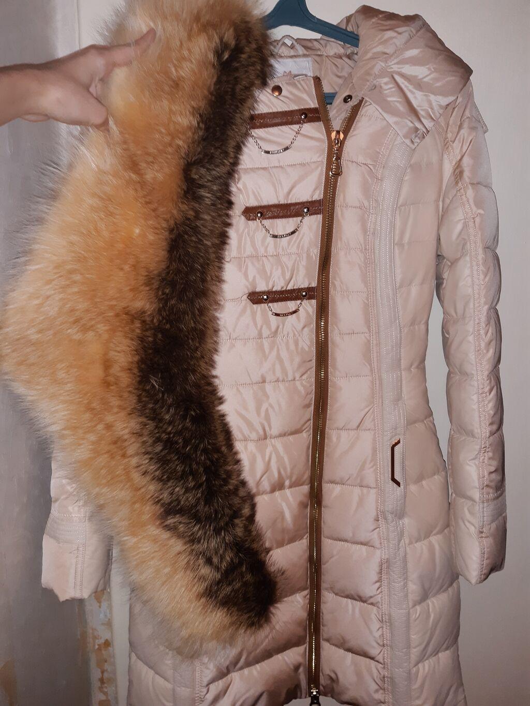 Зимняя длинная куртка ( пальто) с шикарным натуральным воротником: Зимняя длинная куртка ( пальто) с шикарным натуральным воротником.