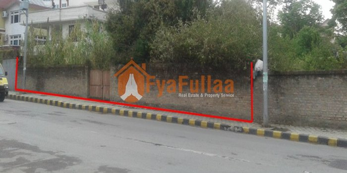 A commercial cum residential land having area 2-4-0-0 of main road is in Kathmandu