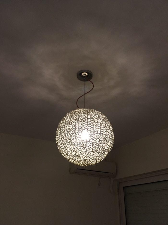 Φωτιστικό μπάλα ασημί (διάμετρος 35 εκατοστά) σε Χαλκίδα