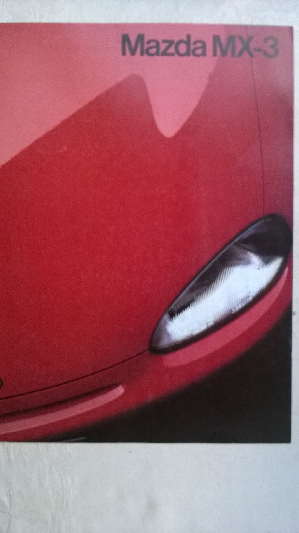 Prospekt Mazda MX-3 20 str.,A4 format,nem