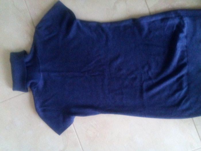 Μπλε μάλλινη κοντομανικη ζιβάγκο. Photo 1