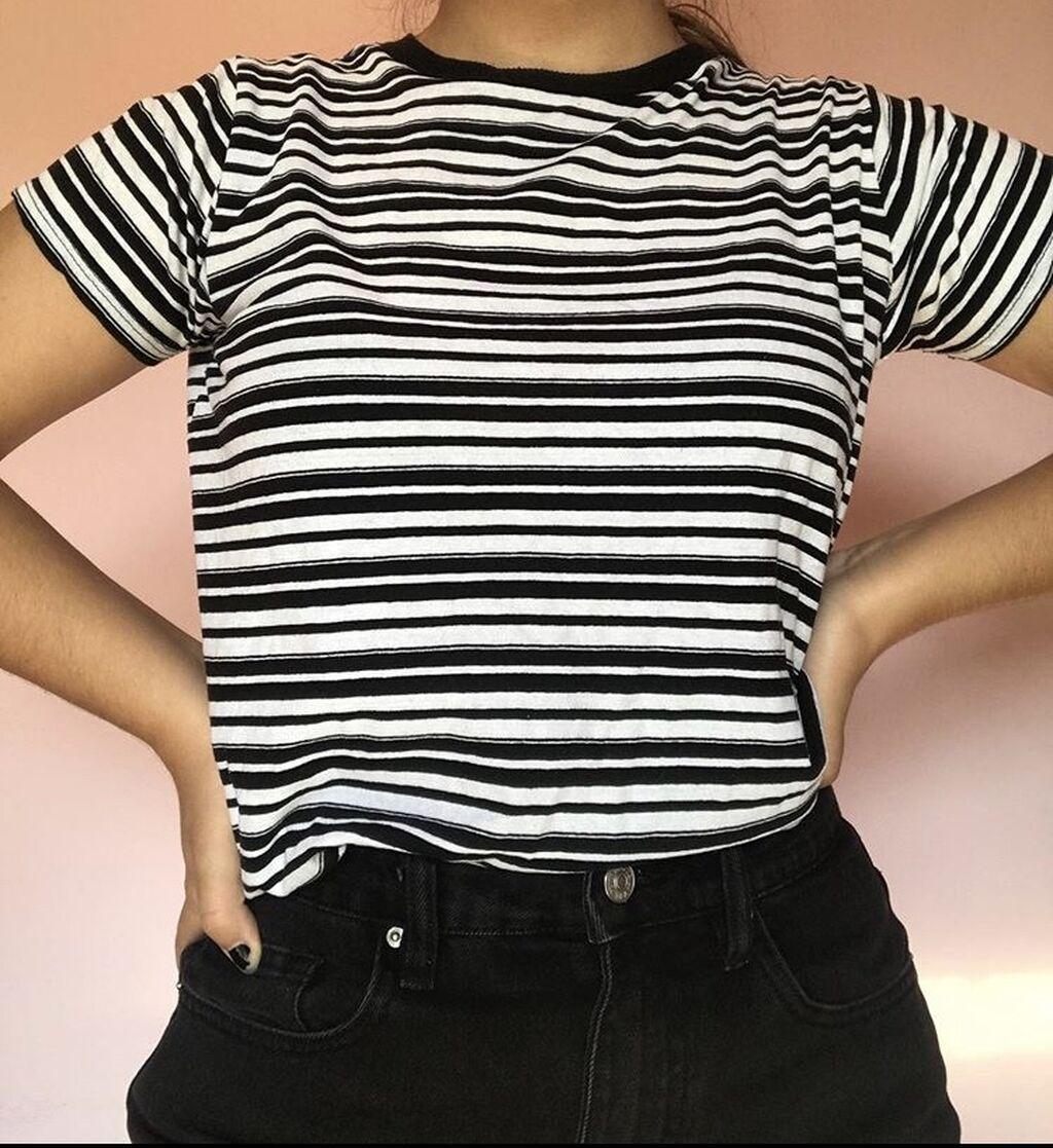 Αθλητικές φόρμες - Κέρκυρα: Ασπρο μπλουζακι με ριγες